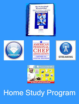 Personal Chef Home Study Training Program - Option A -